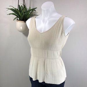 Max Mara Italy XL Ribbed Knit Layering Tank Top